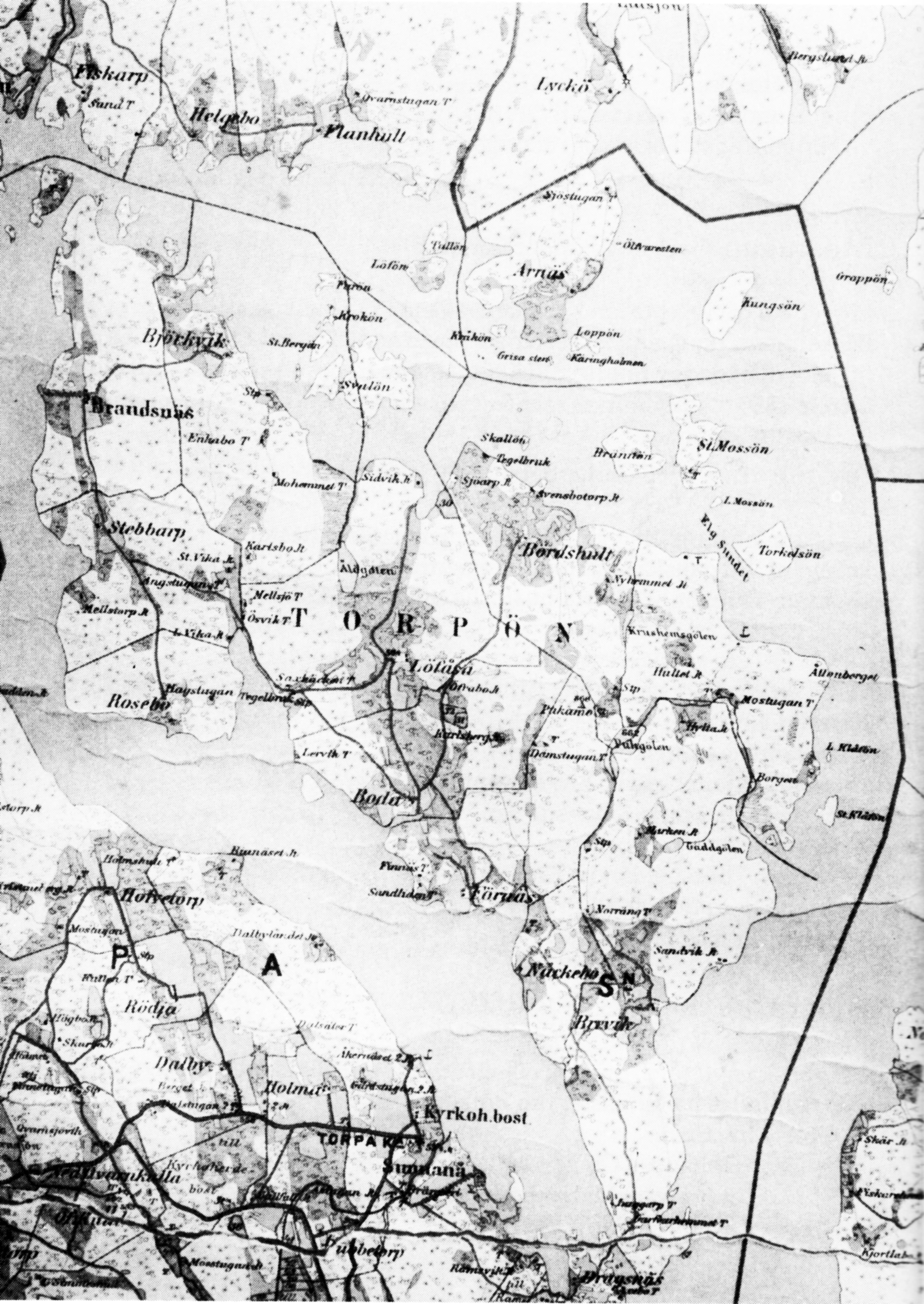 Redigerbar Karta Sverige.Fran Farjan Till Dragsbron Torp Och Gardshistoria Fran Torpon